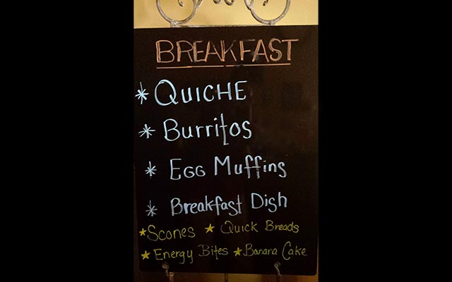 Glacier Ledge Coffee Nook Breakfast Menu